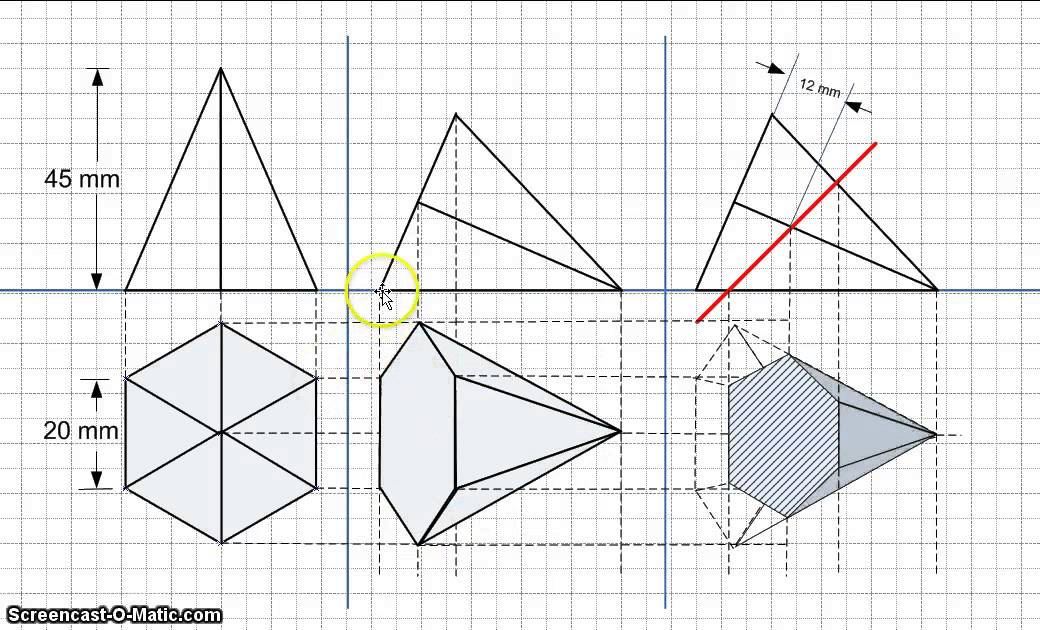 how to find the perimeter of a hexagonal pyramid
