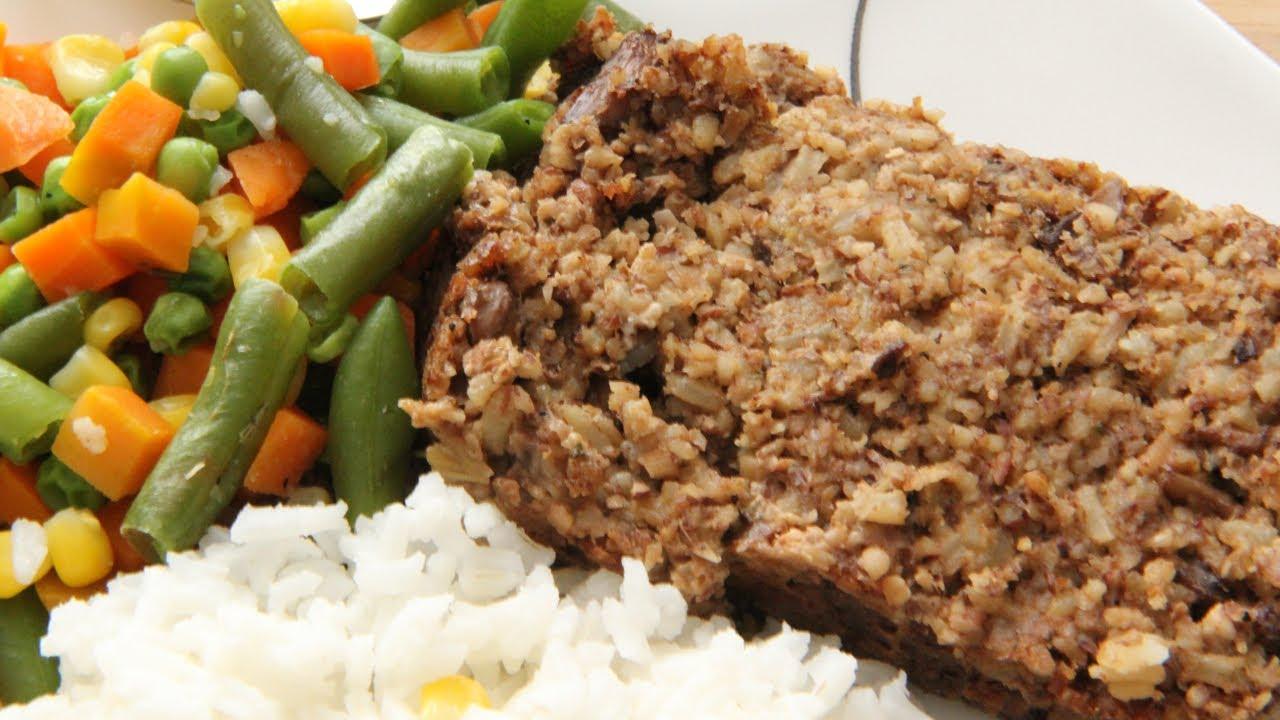 Vegan Basic Meat Loaf Recipe - Mushroom Nut Loaf - Day 6 Southern ...