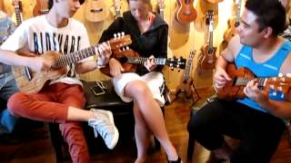Easy Jam Session Brittni Paiva, Sungha Jung, Kalei Gamiao