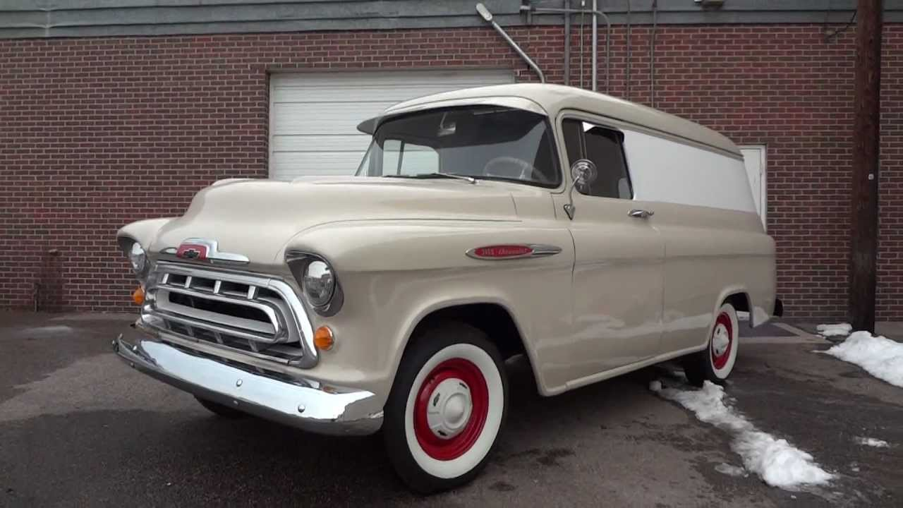 chevy 1957 van chevrolet 1955 trucks panel ton restored truck rare