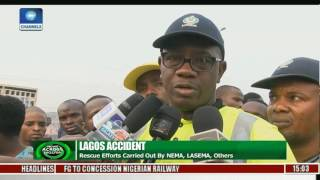 Lagos Accident: 3 Die As Bus Plunges Into Owode River