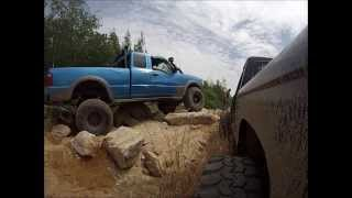 SAS Ford Rangers Crawling a Rock Garden at Southington, GoPro part1