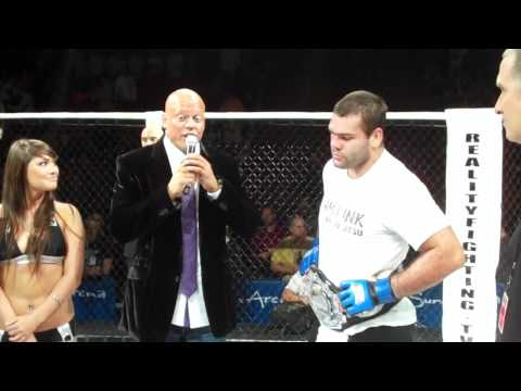 Team Link Gabriel Gonzaga interview in the cage after capture the Reality Fighting Championship Belt Image 1