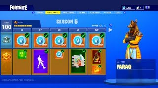 FORTNITE SEASON 5 BATTLE PASS: *NEW* ITEMS, SKINS, EMOTES & MORE! (Fortnite: Battle Royale)
