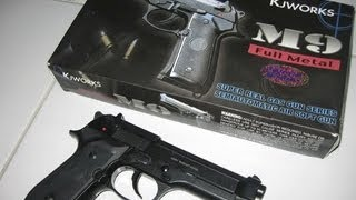Beretta M92 KJW (airsoft) gas blowback SHOOTING