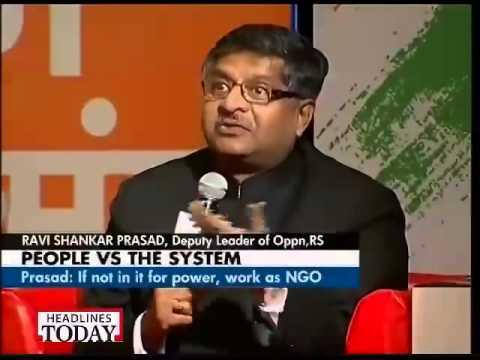 Ravi Shankar Prasad in panel discussion on