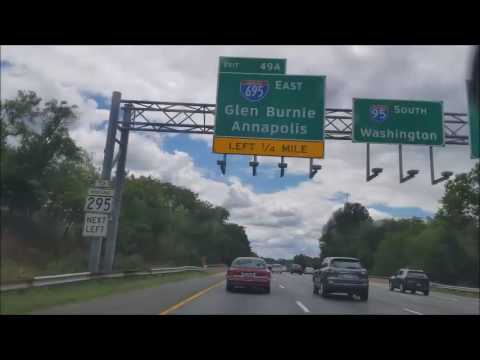 4K Driving From Maryland to Virginia Timelapse on the i95 Intersate 95