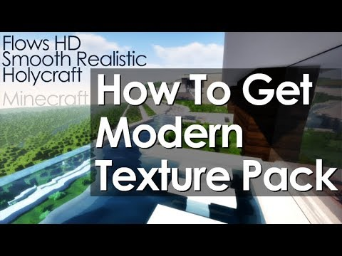 How to get Modern Texture Pack in Minecraft - download install a modern HD resource pack [1.12.2]