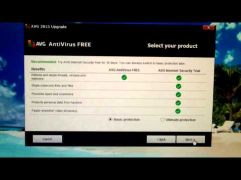 How to avoid installing AVG Internet Security Trial when upgrading AntiVirus Free
