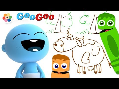 GooGoo Baby Draws the Old MacDonald's Farm | Coloring Pages for Kids by BabyFirst