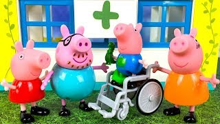 PEPPA PIG STORY - GEORGE GETS HURT AND ENDS UP AT THE HOSPITAL