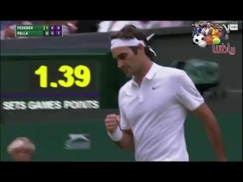 Roger Federer vs Guido Pella Wimbledon 2016