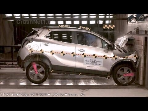 2013 Buick Encore (Opel/Vauxhall Mokka) Frontal Crash Test by NHTSA | CrashNet1