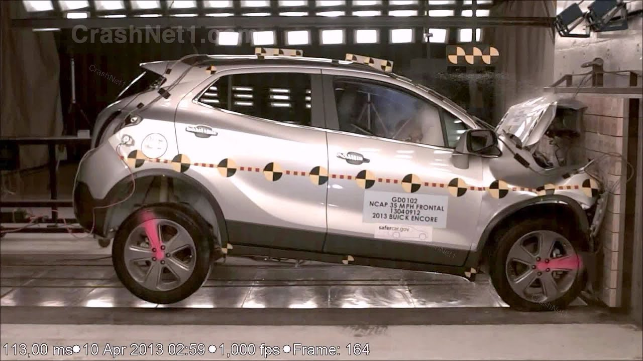 2013 buick encore opel vauxhall mokka frontal crash test by nhtsa crashnet1 youtube. Black Bedroom Furniture Sets. Home Design Ideas