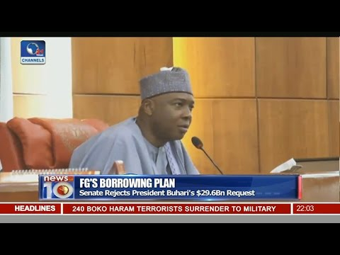 News@10: Senate Rejects Buhari's $29.9Bn Loan Proposal 01/11/16 Pt. 1