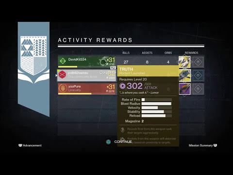 DESTINY Nightfall Rewards X3!!!!!!!