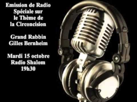 La Circoncision   Grand Rabbin Gilles Bernheim 15 Octobre 2013 video