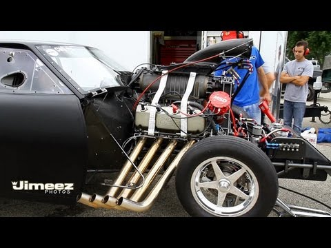 Brad Berkshire Warms Up His 73 Mustang 526ci 14 71 Roots