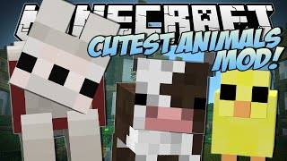 Minecraft | CUTEST ANIMALS EVER!! (Puppies, Chicks & More Baby Animals Mod!) | Mod Showcase