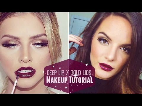 Deep Lips / Gold Lids | Makeup Tutorial
