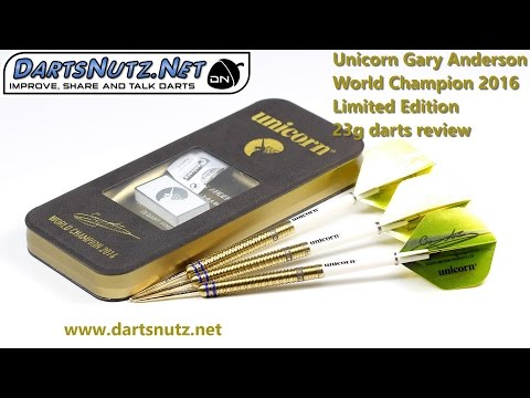 Unicorn Gary Anderson World Championsip 2016 Limited Edition 23g darts review