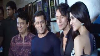 Salman Khan at the success party of Tiger Shroff's movie HEROPANTI.
