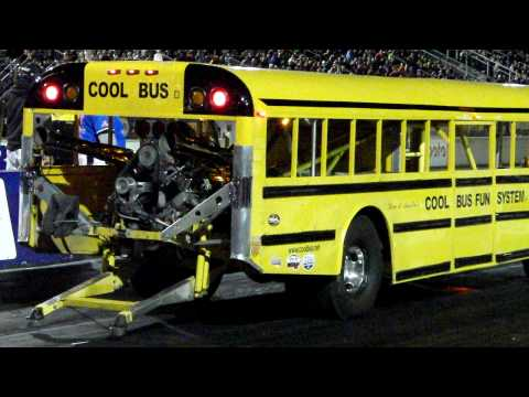 Wheel Standing School Bus