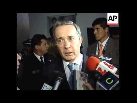 Colombian Pres Uribe comment on pending hostages release