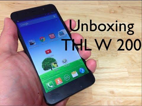 Unboxing Celular inteligente Chino de bajo valor THL W200
