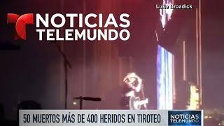 El momento exacto en que comienzan las ráfagas en Las Vegas   Noticiero   Noticias Telemundo
