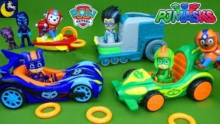 PJ Masks Race Into the Night Paw Patrol Toys Rescue Catboy Gekko Romeo Robot Lab Night Ninja Story