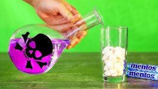 Sulfuric ACID (H2SO4) VS MENTOS! 7 UNBELIEVABLE EXPERIMENTS