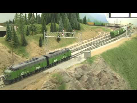 Awesome HO Scale BN Model Train Layout in HD - 2-21-2009 Video