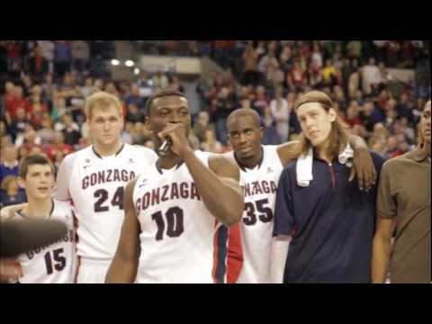 Gonzaga Men's Basketball Senior Night Speeches and Net Cutting, March 2, 2013