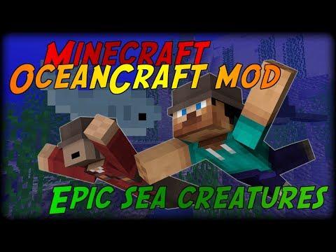 Minecraft: SEA CREATURES MOD (OceanCraft Mod)