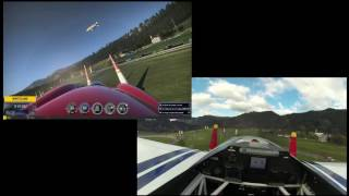 "Martin Šonka in real life VS me in ""Red Bull Air Race the Game"" in Spielberg"