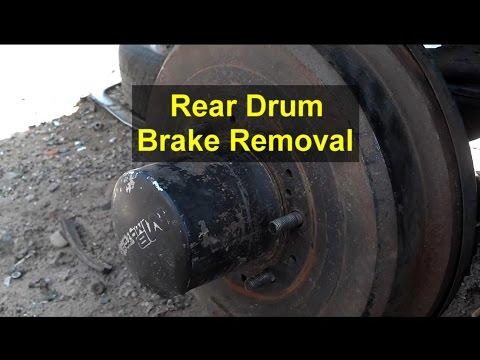 Rear brake drum removal. Toyota 4 Runner.