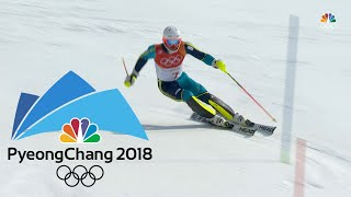 Sweden's Andre Myhrer wins slalom gold after favorites make mistakes