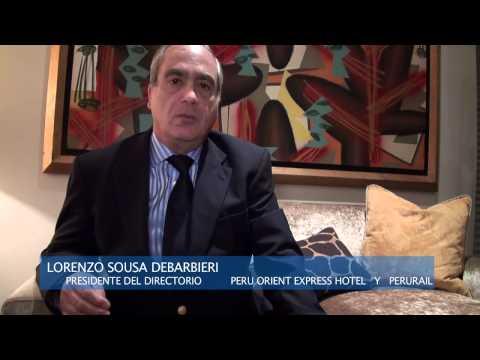 Lorenzo Sousa Debarbieri ENTREVISTA DESARROLLO HOTELES Y FERROCARRILES en el Cusco, Perú