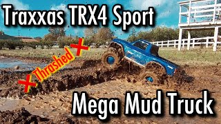 RC Mud Bogging - Traxxas TRX4 Mega Mud Truck!
