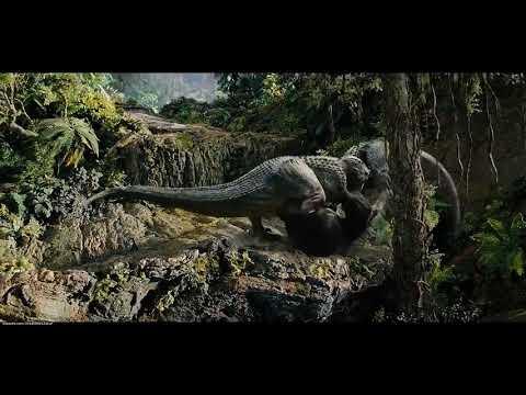 Кинг - Конг против динозавров. Обожаю этот момент!