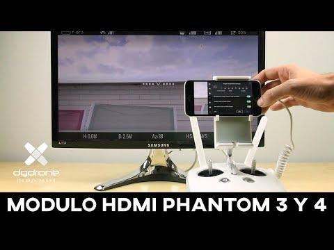 Tutorial de instalación del módulo HDMI en un Phantom4 y Phantom 3