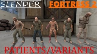 Slender Fortress 2 - Patients/Variants (new boss!)