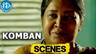 Komban Movie || Kovai Sarala Scolds Karthi, Thambi Ramaiah