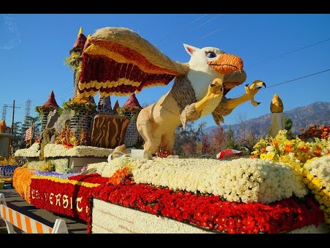 2015 Tournament of Roses Post Parade Showcase of Floats