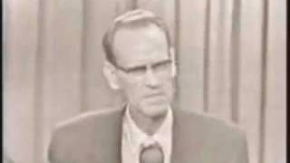 Philo T Farnsworth ~ Inventor Of Television On TV Game Show