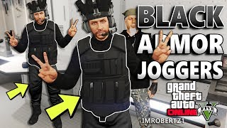 GTA 5 BLACK CEO Body Armor BLACK Joggers Glitch!
