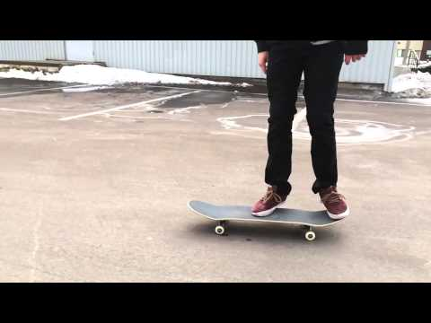 slow-motion flatground skateboarding
