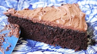 Quick & Easy Chocolate Cake - No eggs. No butter. One bowl.