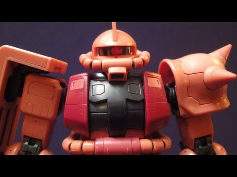 RG Char's Zaku II (Part 3: MS) Real Grade 1/144 Gundam model review